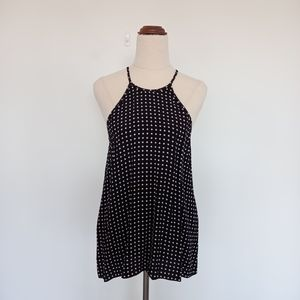 Witchery Size 10 Black & White Polka Dot Tank Top